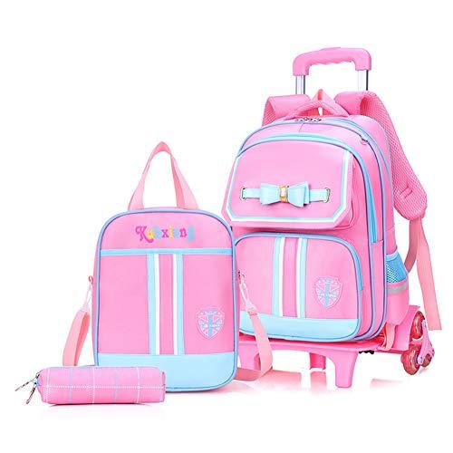 Mode 3 Stks Set School Rugzakken Kinderen School Tassen voor Meisjes Handtas Waterdichte Leuke Kids Reizen Trolley Boekentas C