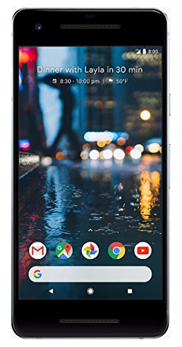 Google Pixel 2, 64GB, Clearly White, GSM Unlocked Android Smartphone, 5' OLED Display, Fingerprint, 12.2MP+ 8MP Cameras (Renewed)