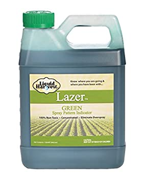 Liquid Harvest Lazer Green Concentrated Spray Pattern Indicator - 1 Quart  32 Ounces  - Perfect Weed Spray Dye Herbicide Dye Fertilizer Marking Dye Turf Marker and Herbicide Marker