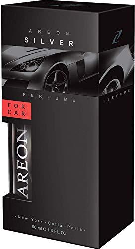 Areon Air Freshener Car Perfume 50 millileter 1.6 Fluid Ounces, Silver