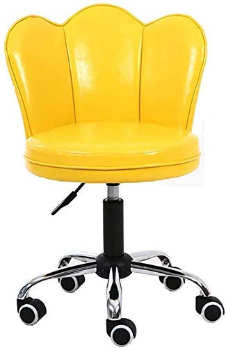 Gossttui Muebles de heces/sillas giratorias Silla de la computadora Silla Ayuda Trasera con Ruedas Ajustables de Ministerio del Interior sillas de Escritorio de Cuero de la PU de sillas de la Sala A