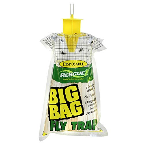 RESCUE! Big Bag Fly Trap – Large Capacity Disposable Outdoor Hanging Fly Trap - 12 Pack