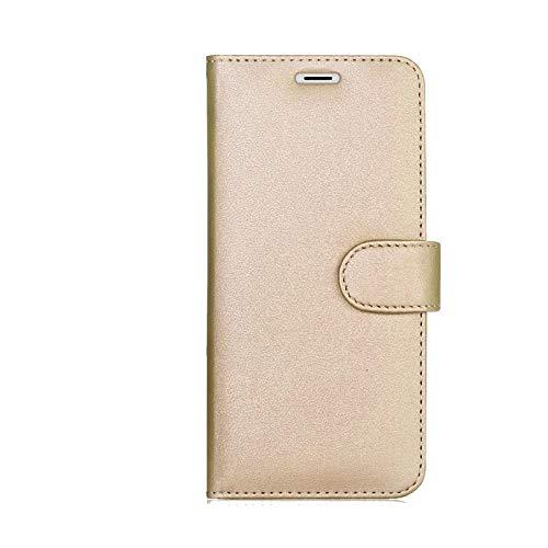 """compatibile per HUAWEI P8 LITE SMART"""" TAG-L01 TAG-L02 TAG-L03 / GR3 / ENJOY 5S Custodia COVER stand FLIP LIBRO GEL silicone tpu PORTAFOGLIO eco pelle porta carte (Gold)"""