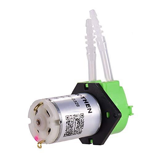 Aibecy Bomba dosificadora Bomba peristáltica Mini bomba de líquido de agua Cabezal de tubo peristáltico Función de autocebado para laboratorio de acuarios Análisis químico Aditivos de dosificación