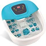 Foot Spa Massager,3 Modes, Bubbles,Vibration and Heat,Foot Bath Massager with 8 Shiatsu Rollers,Stress Relieve in Home