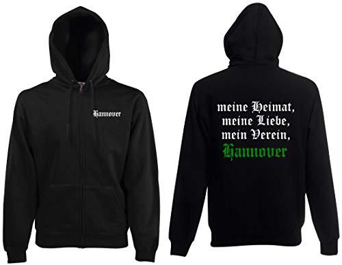 world-of-shirt / Hannover Herren Kapuzenjacke Meine Heimat, Mein Verein