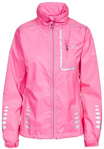 Trespass Fairing, Hi Visibility Pink, XS, Wasserdichte Fahrradjacke mit Rückentasche & Reflektiven Details für Kinder / Jugendliche / Mädchen 10-17 Jahre, X-Small, Neon Pink