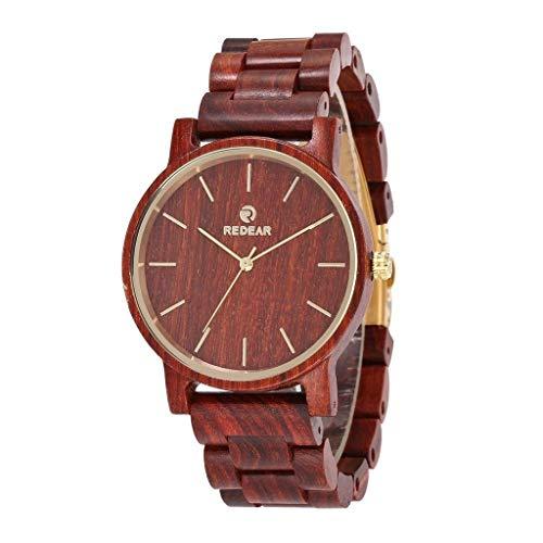 Orologio da uomo Reloj Tanwood Rojo, Hecho a Mano de Gama Alta Industrial, Reloj Deportivo de Cuarzo, Salud, Romance, compañero, Relojes de Pareja (Color : Red)
