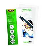 Fellowes 53511 - Pack de 100 fundas para plastificar, formato A4 (216 x 303 mm)
