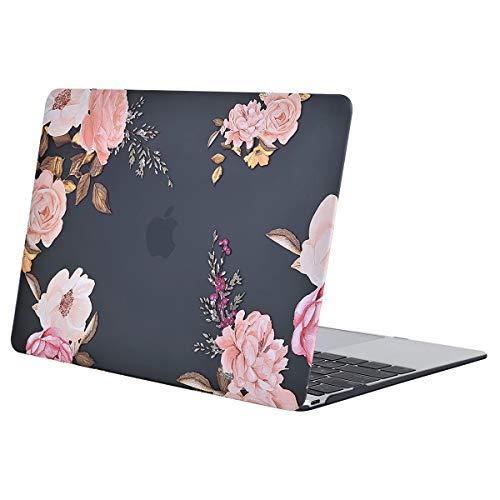 MOSISO Hülle Kompatibel mit MacBook 12 Retina - Ultradünne Plastik Hartschale Hülle Snap Case Kompatibel mit MacBook 12 Zoll mit Retina Display A1534 (Version 2017/2016/2015), Rosa Pfingstrose