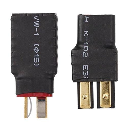 HomeDecTime 2PCS SIN Cables Hembra a T-Plug Macho Y Macho a T-Plug Adaptador Hembra para Batería RC