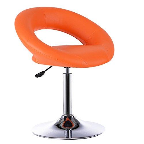 Tabouret de bar européen, élégant tabouret de bar simple, tabouret haut, chaise de levage avant, fauteuil de bar rotatif, tabouret de bar (Couleur : Orange)