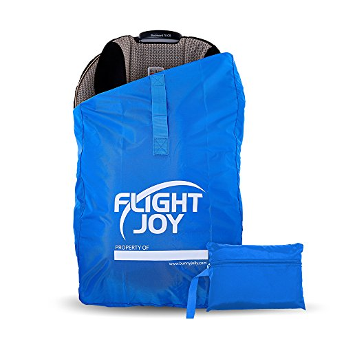 FlightJoy Car Seat Travel Bag - Best for Airport Gate Check - Ultra Durable Carseat Airplane Bag with Padded Shoulder Straps - Must Have for Child CarSeats and Booster Car Seats