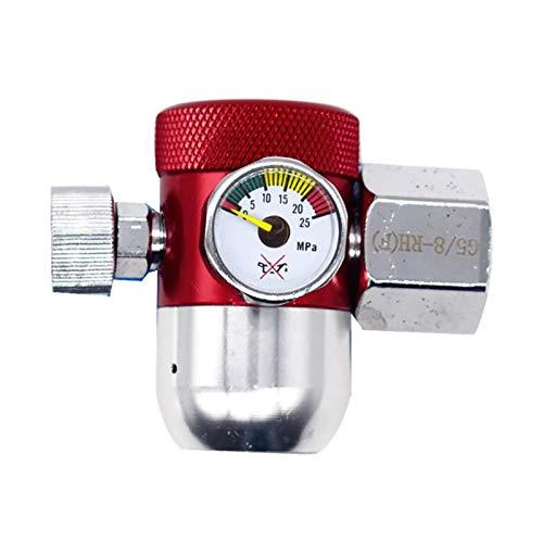 Válvula solenoide eléctrica Aleación Regulador TIG Soldador de reducción de presión de la válvula con el calibrador del metro G5 / 8 Regulador indicador for MIG y TIG soldadores Normalmente, agua cerr