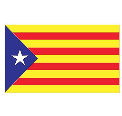 Supstick stickers, vlag van de regio Catalonie, formaat 3 x 2 cm, 8 stuks