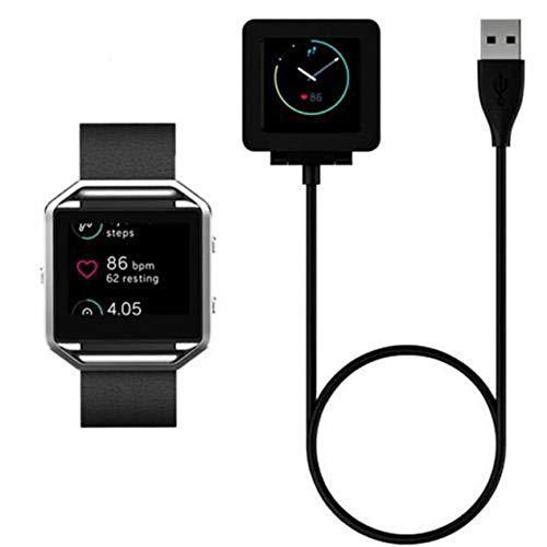 Alecony USB Ladegerät Charger Kompatibel mit Fitbit Blaze Smart Fitness Watch, Ersatz Ladekabel Ladestation Stand, USB Data Sync Datenkabel, Charging Dock Adapter, USB Charging Kabel - 100CM