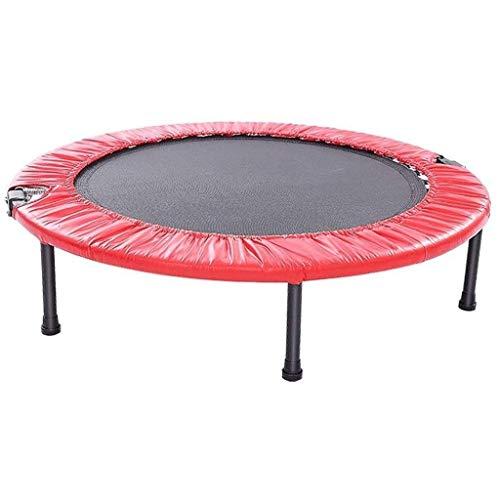 YDHWY 40' Faltbare Mini-Trampolin, Fitness-Trampolin mit Sicherheitspolster, Stable Quiet Exercise Rebounder for Kindererwachsene Indoor Garten (Color : Red)