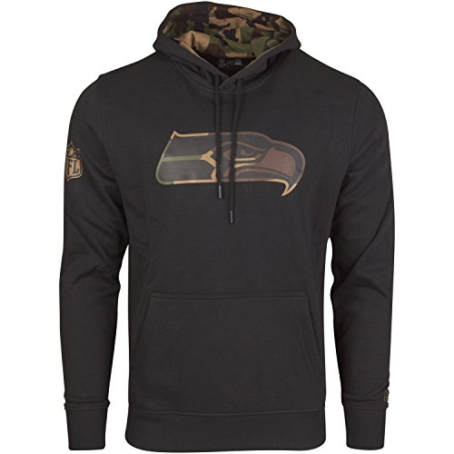 New Era Fleece Hoody - NFL Seattle Seahawks schwarz - M
