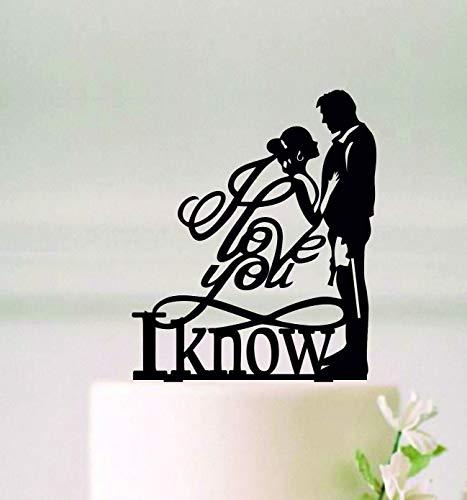 I Love You I Know Cake Topper, Star Wars Wedding Cake Topper, Han And Leia Cake Topper, Wedding Cake Topper, Custom Cake Topper Wooden Or Acrylic Cake Topper