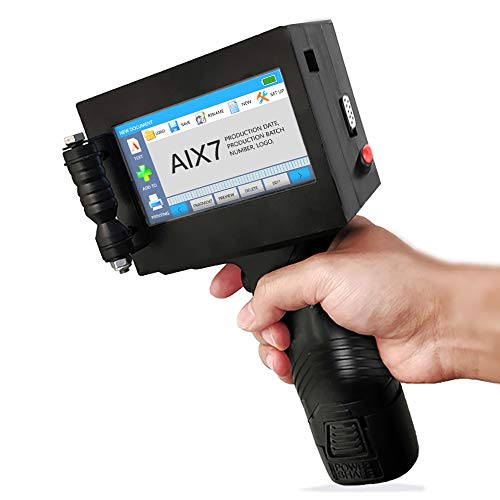 AIX7 Hand Tintenstrahldrucker Pistole, Portable Intelligente 600 DPI High Definition-Handheld-Drucker Für Marken, Logos, Bar, Code, Grafik, Datum, Mit 4,3-Zoll-HD-LED-Screen