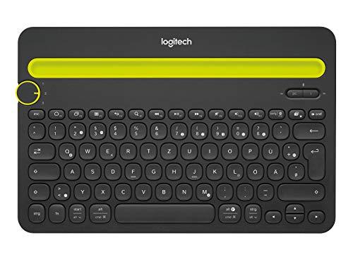 Logitech K480 Kabellose Bluetooth-Tastatur für Computer, Tablet und Smartphone, Multi-Device & Easy-Switch Feature, Kompaktes Design, PC/Mac/Tablet/Smartphone, Deutsches QWERTZ-Layout - Schwarz