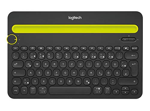 Logitech K480 Kabellose Bluetooth-Tastatur für Computer, Tablet und Smartphone, Multi-Device & Easy-Switch Feature, Kompaktes Design, PC/Mac/Tablet/Smartphone, Deutsches QWERTZ-Layout - schwarz