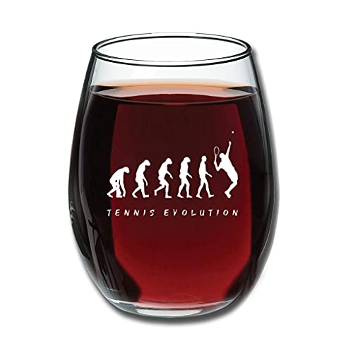 Lind88 Stemless Tennis Evolution - Copa de vino de talla premium - Especialmente Event decorativo blanco 350 ml