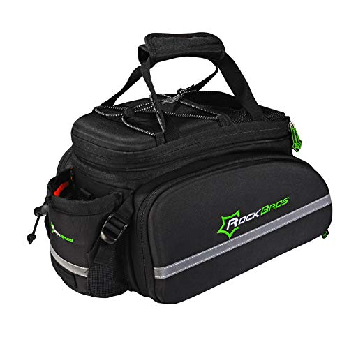 ROCKBROS Bike Panniers for Bicycle, Bike Trunk Bag Rear Bike Rack Bag for Travel Bicycle eBike Accessories Cargo Carrier Pack