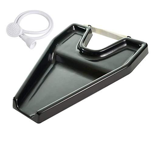 Cris nails - kit lavacabezas y ducha para lavar el cabello, lavacabezas portátil negro con grifo de para silla regulable y basculante