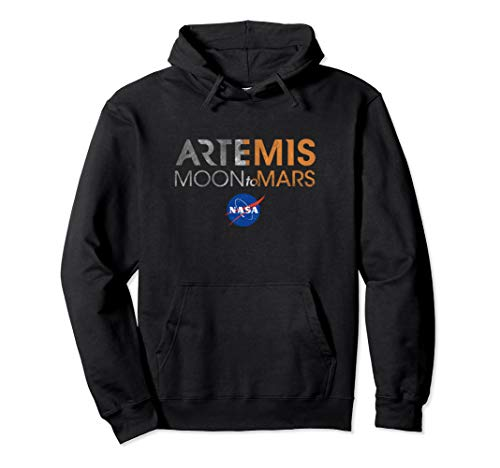 NASA Approved Artemis Moon To Mars Space Officially Licensed Pullover Hoodie