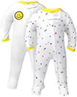 TILLYOU Footed Sleep and Play Pajamas for Baby Boy Girl, 0-12 Month Blanket Sleepers