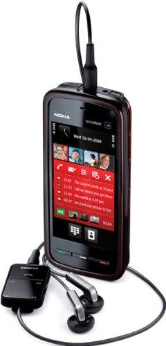 Nokia 5800 XpressMusic Smartphone (GPS, 3,2 MP, WLAN, EDGE, HSDPA, UMTS, MP3, Mappe Ovi ), colore: Rosso