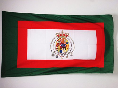 AZ FLAG Flagge KÖNIGREICH BEIDER SIZILIEN 1848-1860 90x60cm - ITALIENISCHE Fahne 60 x 90 cm Scheide für Mast - flaggen Top Qualität