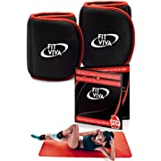 Fit Viva Ankle Weights Set - Wrist Weights for Women and Men (1, 2 or 3 lbs) - Perfect for Weight Lifting, Core & Leg Training or Cardio – Great GlFT (2 x 2 lb)