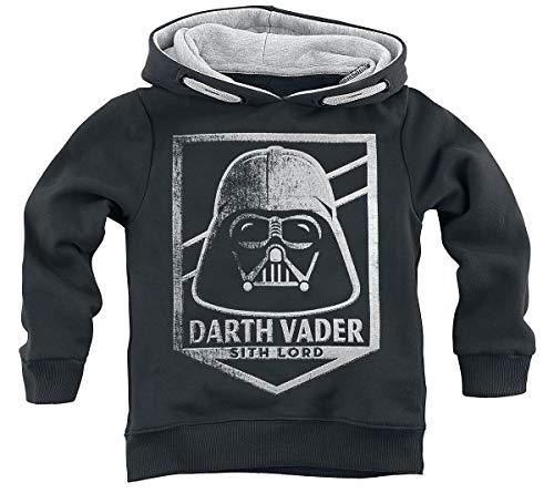 Star Wars Dark Vador - Lord Sith Homme Sweat-Shirt à Capuche Noir 164