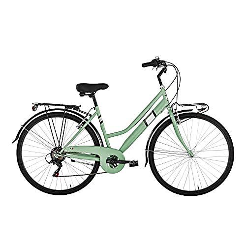 """Alpina Bike Moving, Bicicletta Trekking 6v Donna, Verde Menta, 28"""""""
