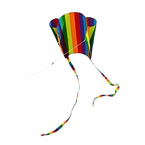 Allegorly Bunt 3D Kinder Drachen Kite 120 * 140cm Long Tail lebensechte Dinosaurier Kite Spielzeug 100m Einzellinie mit Schwanz Outdoor Erwachsene Kinder Aktivitäten Spiele Spielzeug