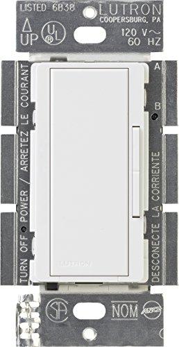 Lutron MA-R-WH Maestro Companion 120V 8.3A Designer Digital Dimmer Switch, White, 4.5Lx2.5Wx2.5H