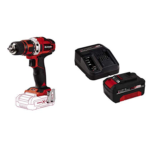 Einhell Te-Cd 18/40 Li-Solo Power X-Change - Supplied with 4.0Ah Battery and Charger (Lithium-Ion Li-Ion, 18 V, Maximum Torque 40 Nm On 21 Levels, Softgrip)