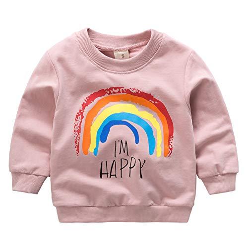 Bornbayb Regenbogen-Pullover Kinder Langarm Jacken Top Kinder Kostüme Mäntel