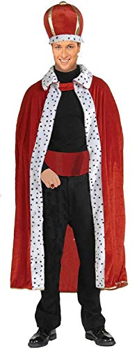 Forum Novelties Men's King Robe and Crown Set, Red, One Size