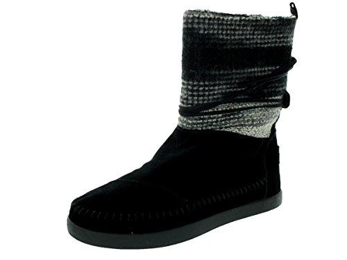 TOMS Womens Nepal Boot V2 Wool Black Stripe 40