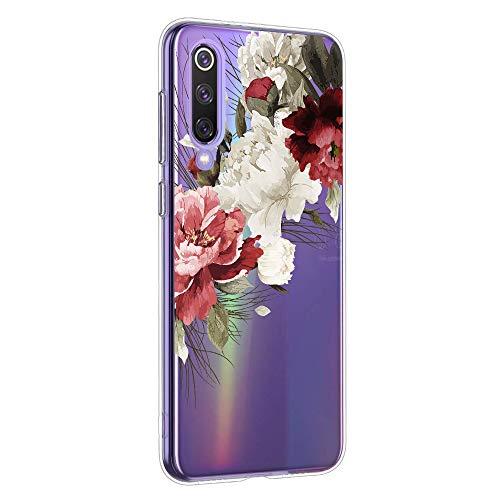 Suhctup Case Compatible con Xiaomi Mi 8 Lite Funda Silicona Transparente Dibujos Diseño TPU Bumper Crystal Ultra Slim Antigolpes Protection Cárcasa Cover para Xiaomi Mi 8 Lite,Flor 8