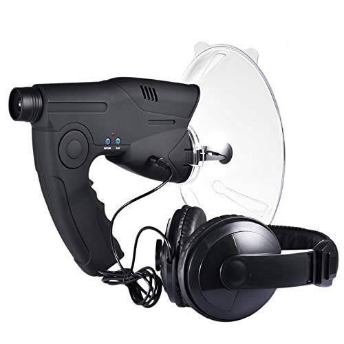 LXVY Micrófono direccional parabólico, monocular X8 Veces de Larga Distancia, telescopio de Escucha de pájaros, Caminata por arbustos, Caza, Pesca, Herramientas de Camping