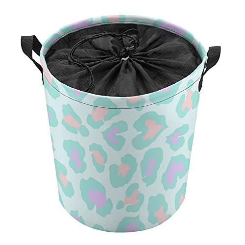 Cesta organizadora de almacenamiento impermeable grande para cesta de lavandería, cubos de juguete, cestas de regalo, ropa sucia, dormitorio de los niños, puntos de color del cuarto de baño