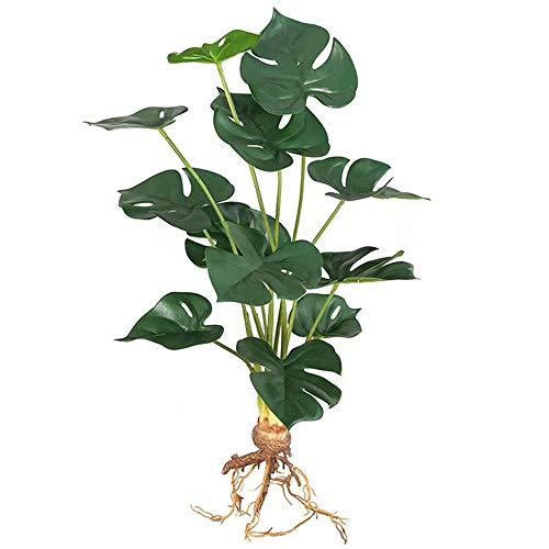 Aisamco Hojas de Palmera Artificiales Hoja de Tortuga de imitación Hojas de Palmera Grandes Tropicales Plantas Artificiales con 12 Hojas de 48 cm de Altura para decoración de Bodas en casa
