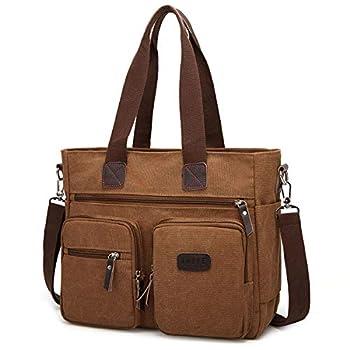 ToLFE Women Top Handle Satchel Handbags Shoulder Bag Messenger Tote Bag Purse Crossbody Bag  Double handles with 9.8  drop New-Brown