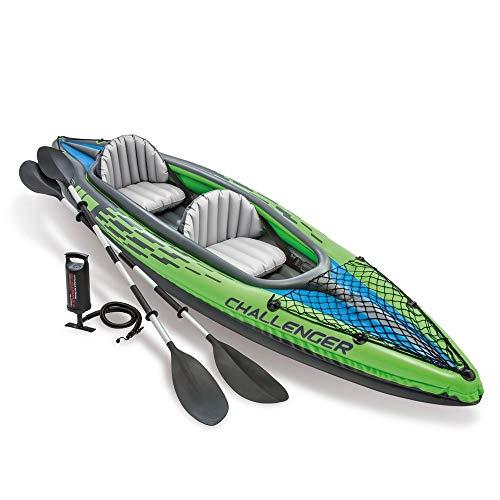 Intex 68306 Canoa Gonfiabile Due Persone Challenger K2 Kayak 351x76 cm