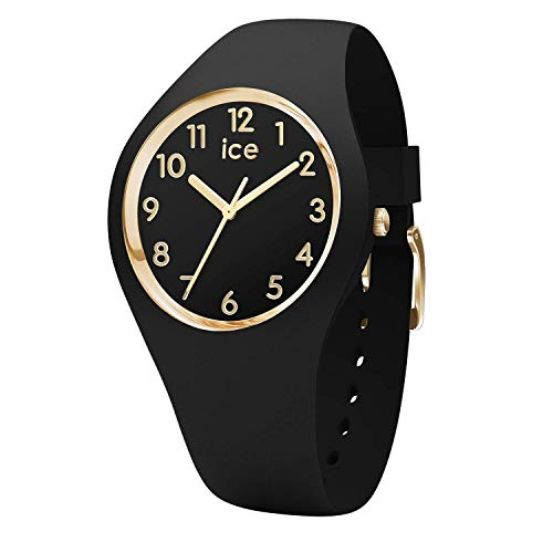 Ice-Watch - ICE Glam Black Gold - Dameshorloge met siliconen armband - 015338 (Small)