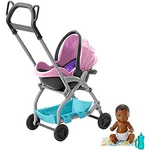 Barbie Skipper – Cochecito con muñeco de bebé y accesorios (Mattel FXG95) , color/modelo surtido